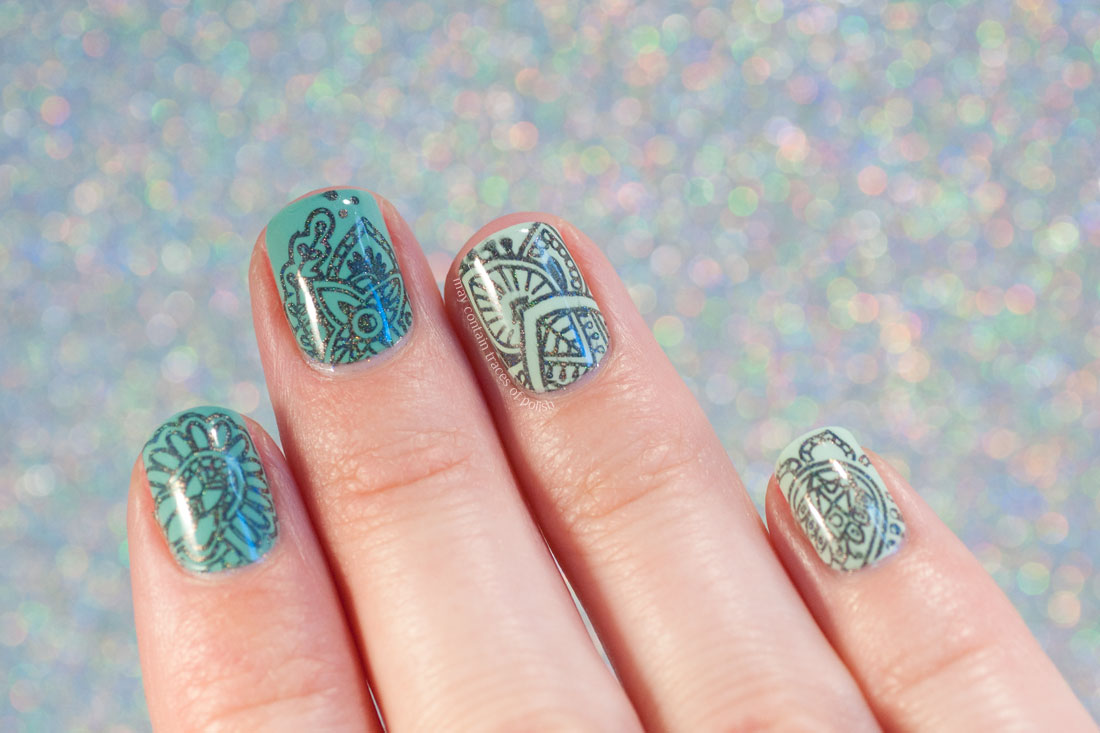 Holo Mandala Nails using MoYou Explorer 03