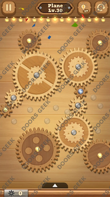 Fix it: Gear Puzzle [Plane] Level 30 Solution, Cheats, Walkthrough for Android, iPhone, iPad and iPod