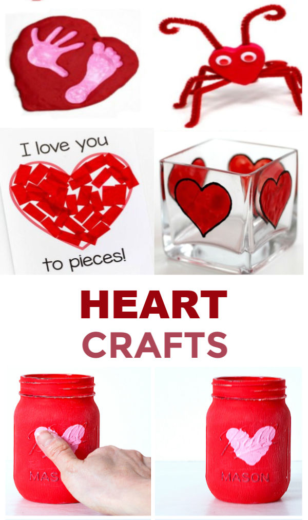 30+ HEART CRAFTS FOR KIDS- such cute ideas!!  #heartcrafts #heartartforkids #heartactivities #valentinesday #growingajeweledrose