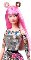 2015 tokidoki barbie donut ears sequin top bird tattoo chest arms