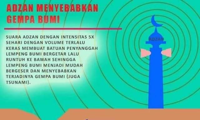 Pemuda Asal Manado: Penyebab Gempa Bumi Itu Suara Adzan di Masjid