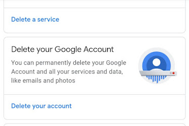 google account delete kare mobile se