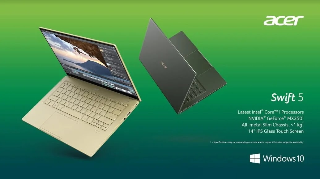 Acer Banks On Stylish Productivity with the New Acer Swift 5