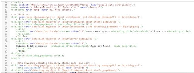 struktur kode meta tag