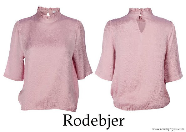 Crown Princess Victoria wore Rodebjer Marble Pink Silk Top
