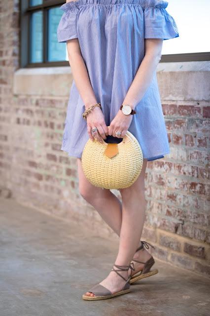 shein-striped-cold-shoulder-ruffle-dress