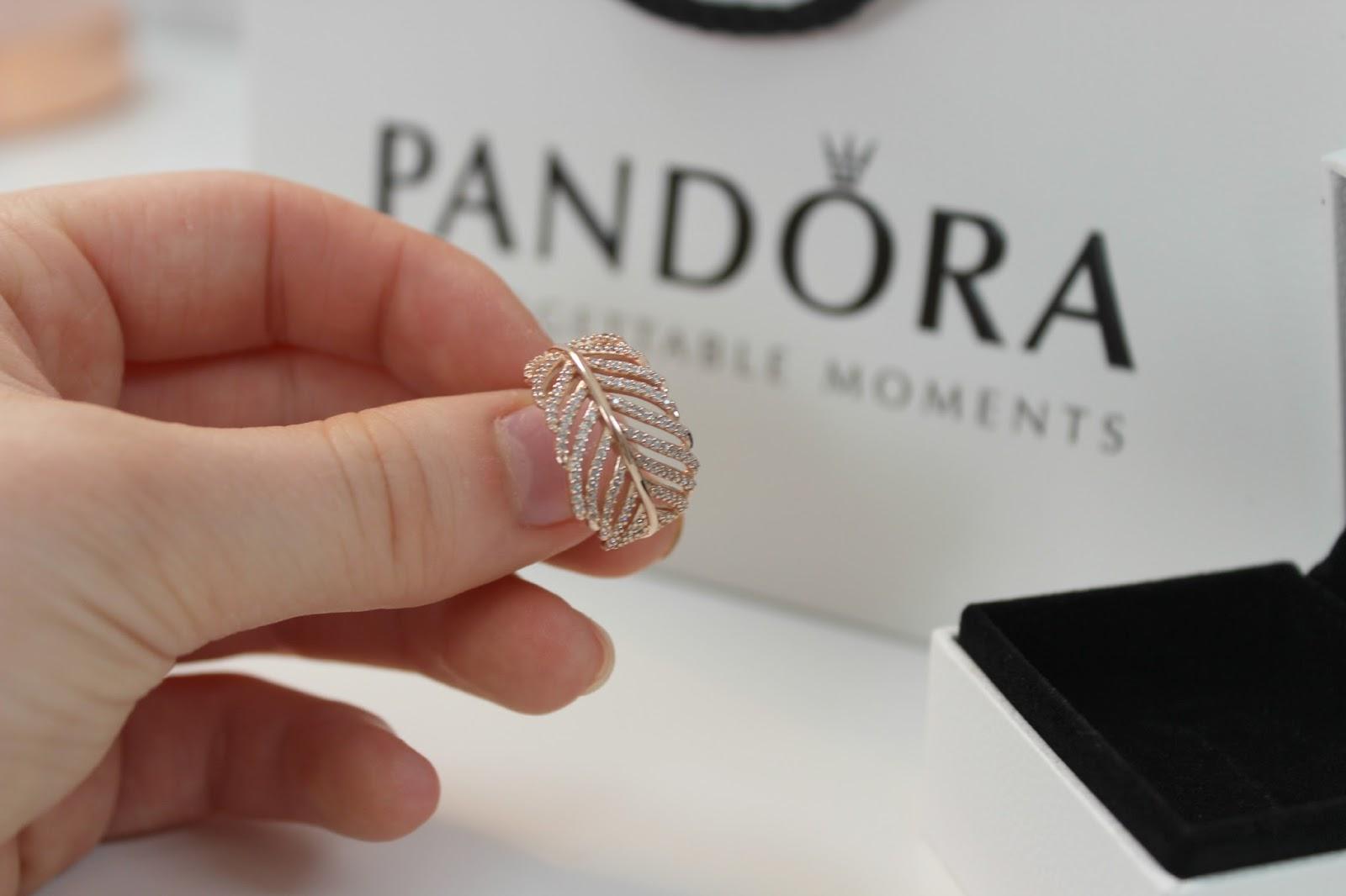 Emily Rose: Pandora Rose Collection | Feather Ring