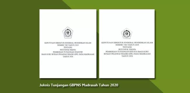 Juknis Tunjangan GBPNS pada Madrasah Tahun 2020