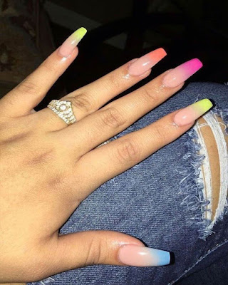coffin nails summer colors