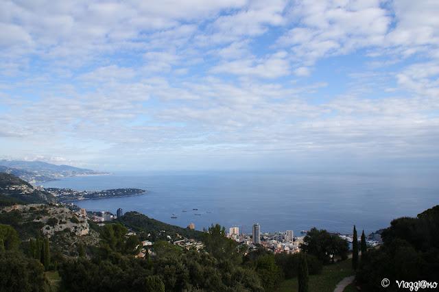 Vista Panoramica del Principato di Monaco e Montecarlo dalla Turbie