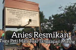 Anie Resmikan Tugu Peti Mati