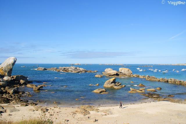 La splendida spiaggia di Meneham
