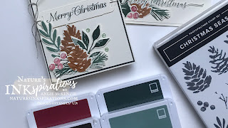 By Angie McKenzie for Ink.Stamp.Share Showcase Blog Hop; Click READ or VISIT to go to my blog for details! Featuring the Christmas Season Bundle found in the July-December 2021 Mini Catalog by Stampin' Up!®; #stampinup #cardtechniques #cardmaking #christmasseason #heartfeltwishes #evergreenelegance #poinsettiapetals #naturesinkspirations #stampingtechniques  #stampinupcolorcoordination #inkstampshareshowcasebloghop #diycards #handmadecards