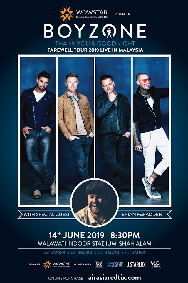 "Boyzone ""Thank you and Goodnight Farewell"" Tour in MALAYSIA 2019"