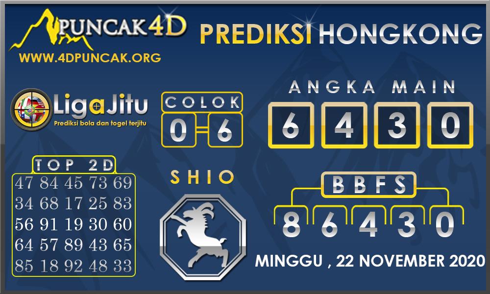 PREDIKSI TOGEL HONGKONG PUNCAK4D 22 NOVEMBER 2020