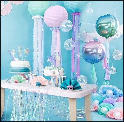 Mermaid party decorations   mermaid party decorations - mermaid party ideas - mermaid themed birthday party - ocean theme party decorations - under the sea party - little mermaid birthday party ideas - beach party - water theme parties - mermaid table decor - party props  under the sea birthday party - mermaid balloons - mermaid jewels party favors