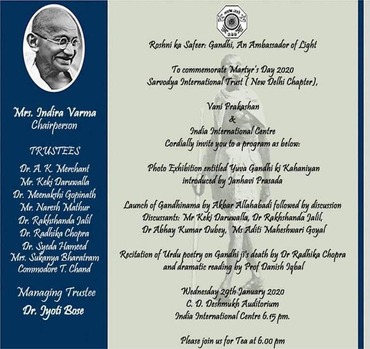 ऐतिहासिक कृति 'गाँधीनामा' के हिन्दी संस्करण का लोकार्पण व परिचर्चा