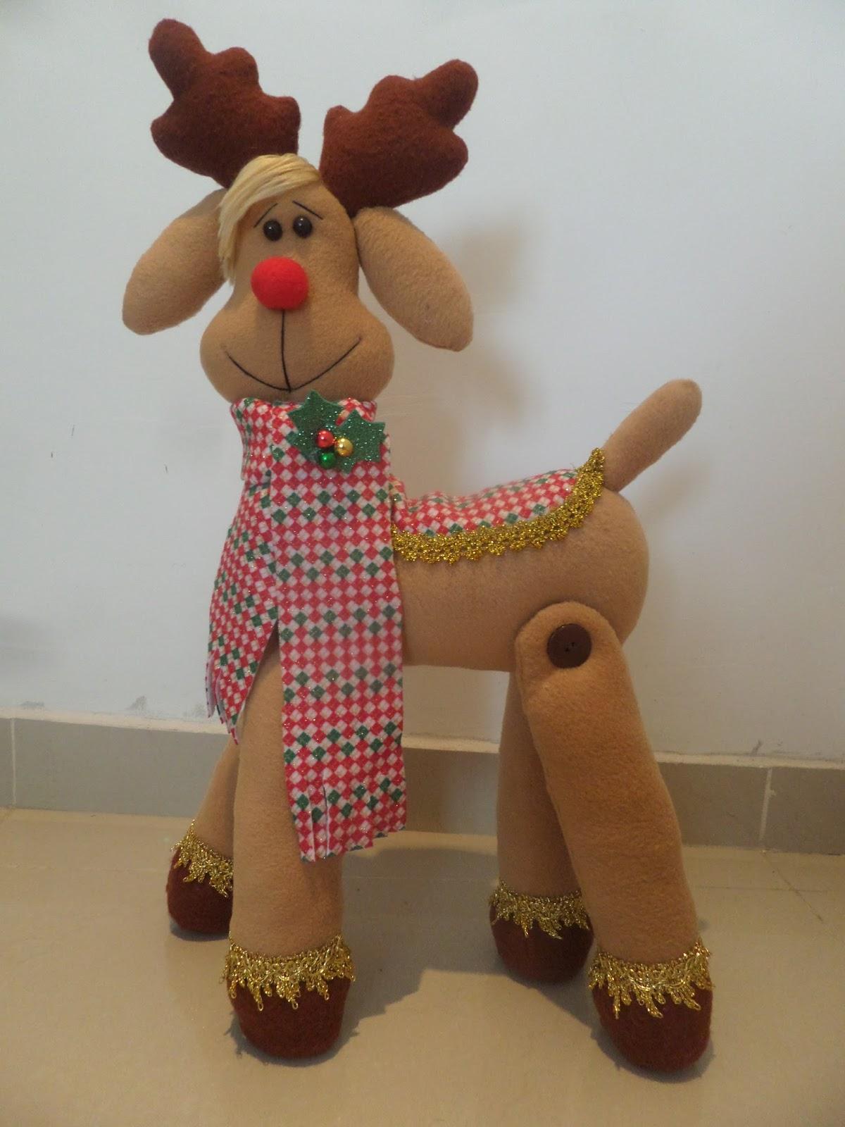 Tutorial reno navideño con moldes - Tutoriales de Muñequeria y Peluches