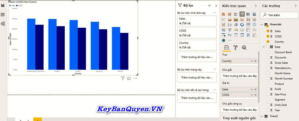 So sánh báo cáo bằng Excel và Power BI