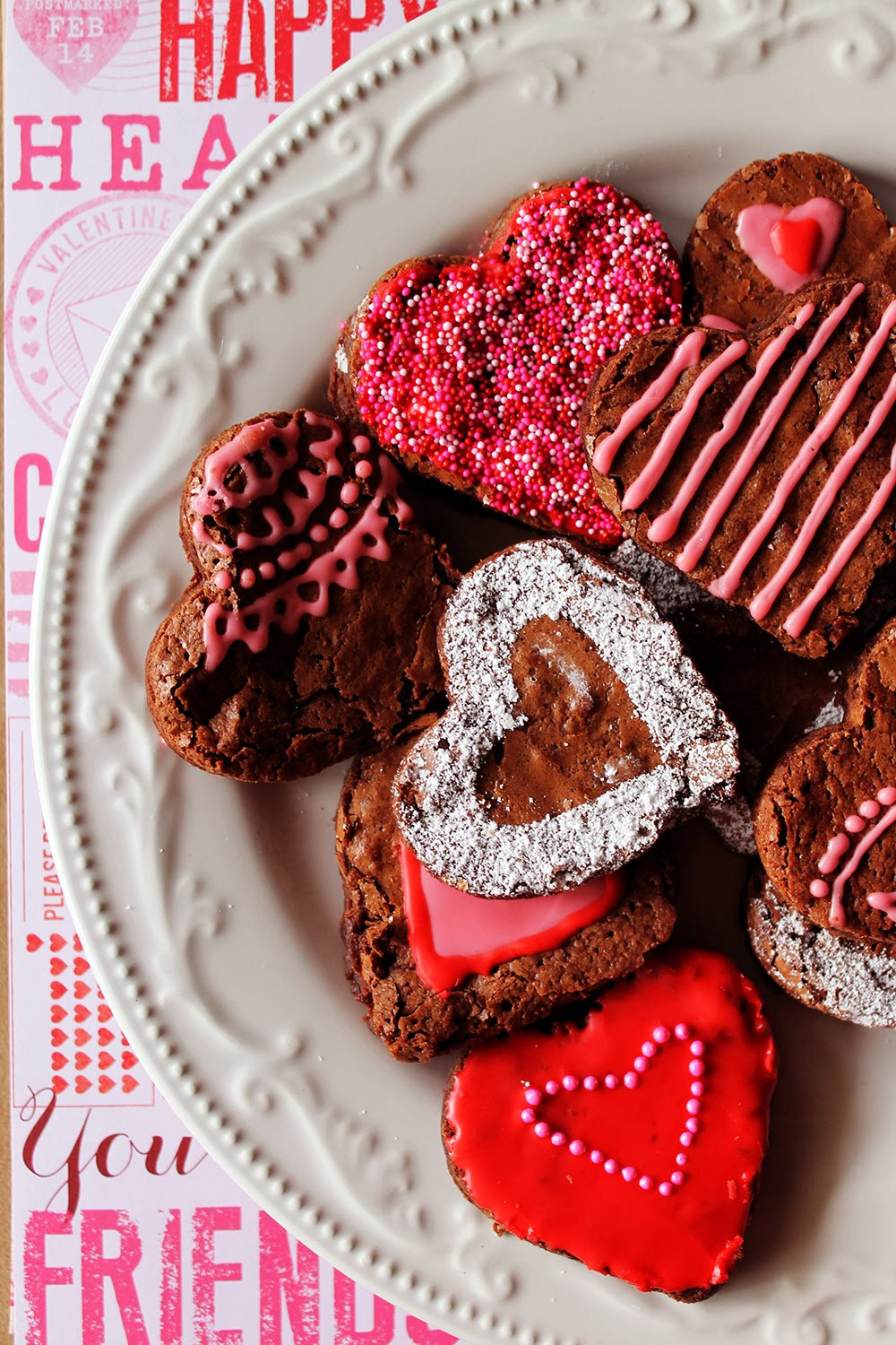 Valentine Brownie: The Feathered Arrow: Valentine's Day Brownies Recipe
