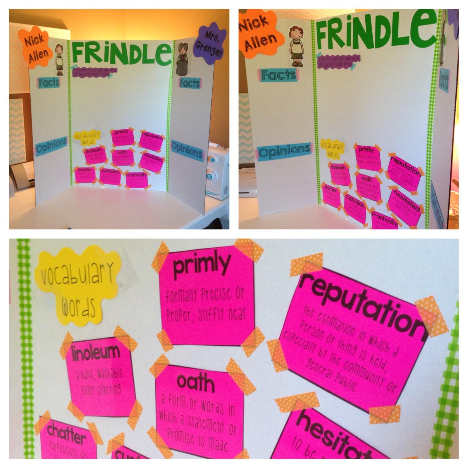 Teaching Frindle Beginning Of 5th Grade