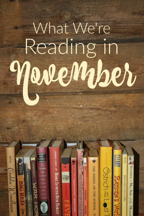 What We're Reading in November 2019- Need a book suggestion for you or your kids. Here's a list of great titles for the month of November.