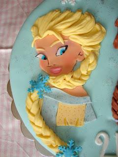 Elsa de fondant en plano