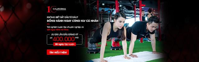 hòng tập gym đẳng cấp quốc tế tại California Fitness & Yoga