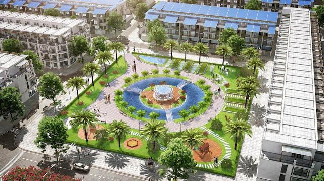 Không gian xanh nội khu Lovera Garden