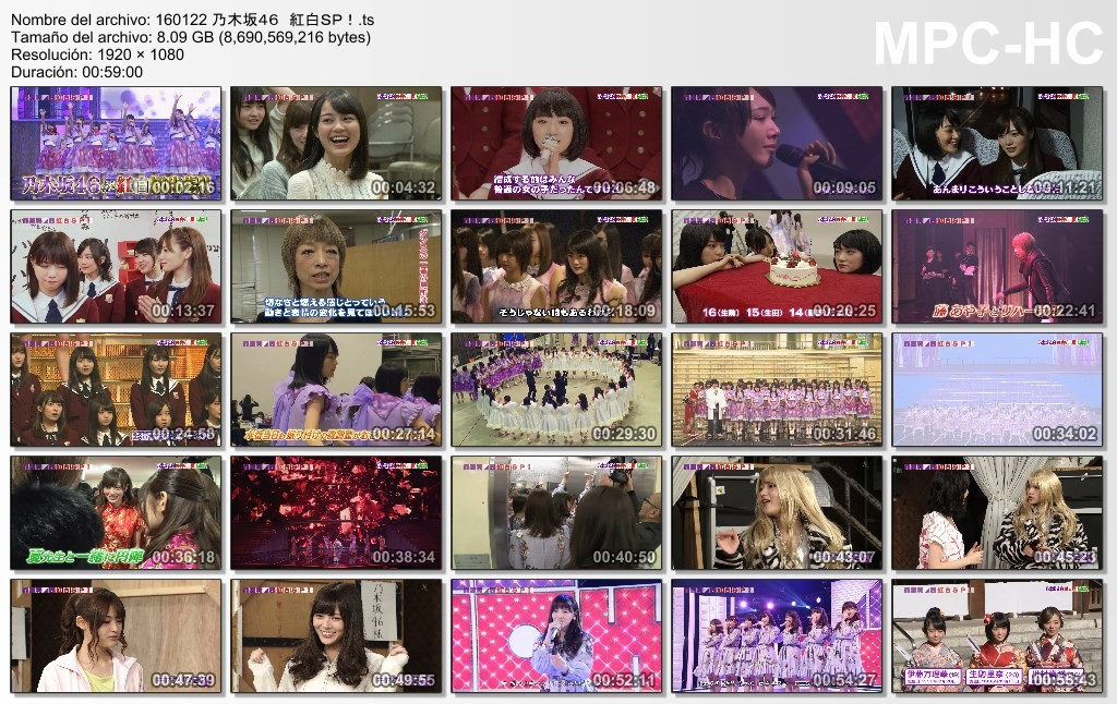 [TV-Variety] 乃木坂46 – NHK BSプレミアム「乃木坂46 紅白SP!」(2016.01.22/TS/8.09GB)