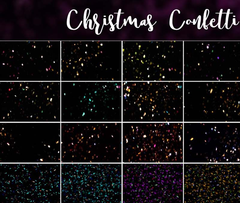 Christmas Confetti And Glitter Overlays