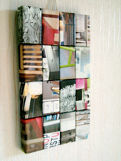 Makey-Cakey: Recycled IKEA Catalogue Wall Art