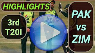 PAK vs ZIM 3rd T20I 2020