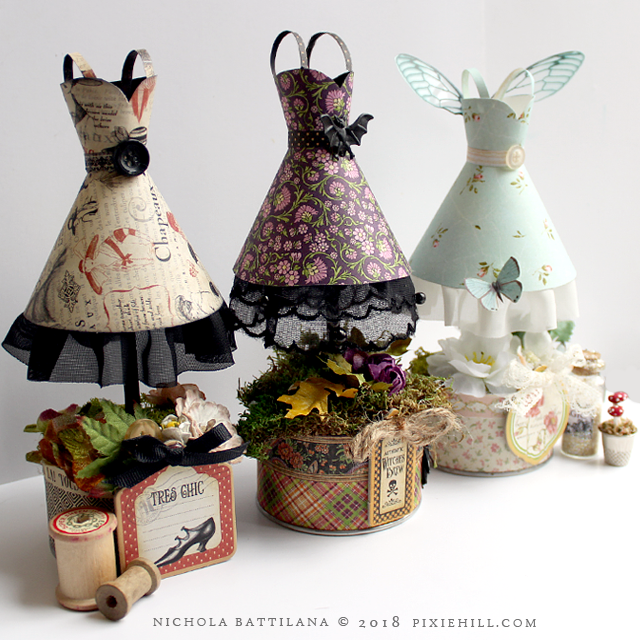 Graphic 45 Paper Fairy Frocks with Tutorial - Nichola Battilana