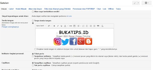 Cara Membuat Tanda Tangan di Gmail Dengan Gambar, Logo dan Link HTML