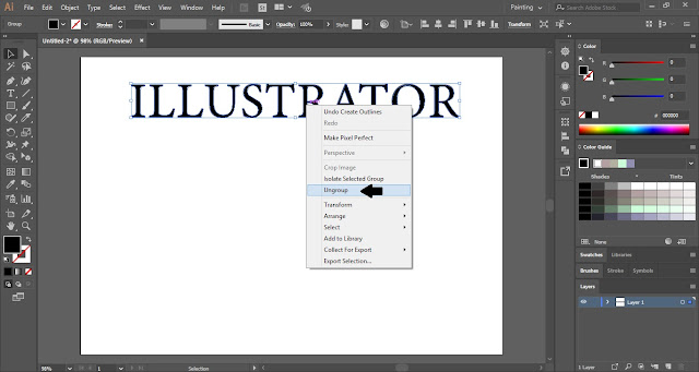 Wrap a Single Word Around Perspective Grid in Adobe Illustrator