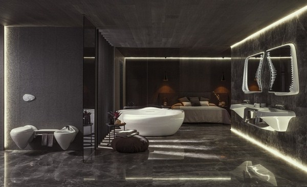 Bathroom Design Zaha Hadid Noken Vitae Bad Indirect Lighting