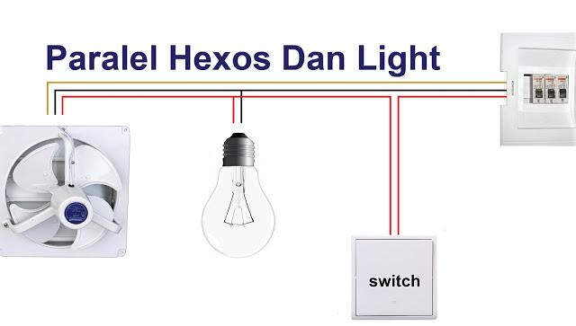 Cara Paralel Exhaust dengan Lampu