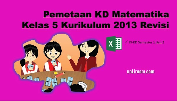 Pemetaan KD Matematika Kelas 5 SD Kurikulum 2013 Revisi 2018