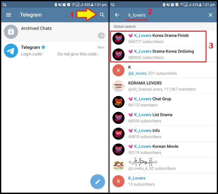 Cara Nonton Drakor di Telegram Android & iOS dengan Mudah - Klik Refresh