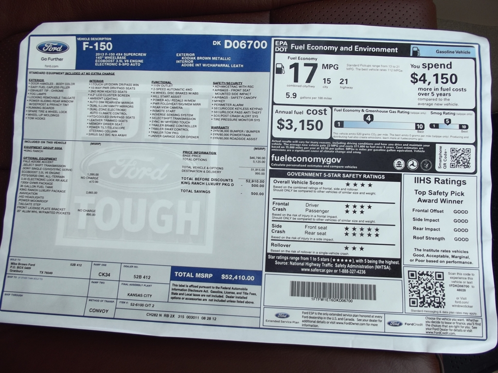 In stock 2013 Ford F150 King Ranch Supercrew 4x4 3.5L ...
