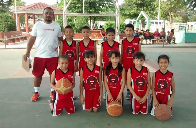 Escuela de Basquetbol en Cacalchén Yucatán