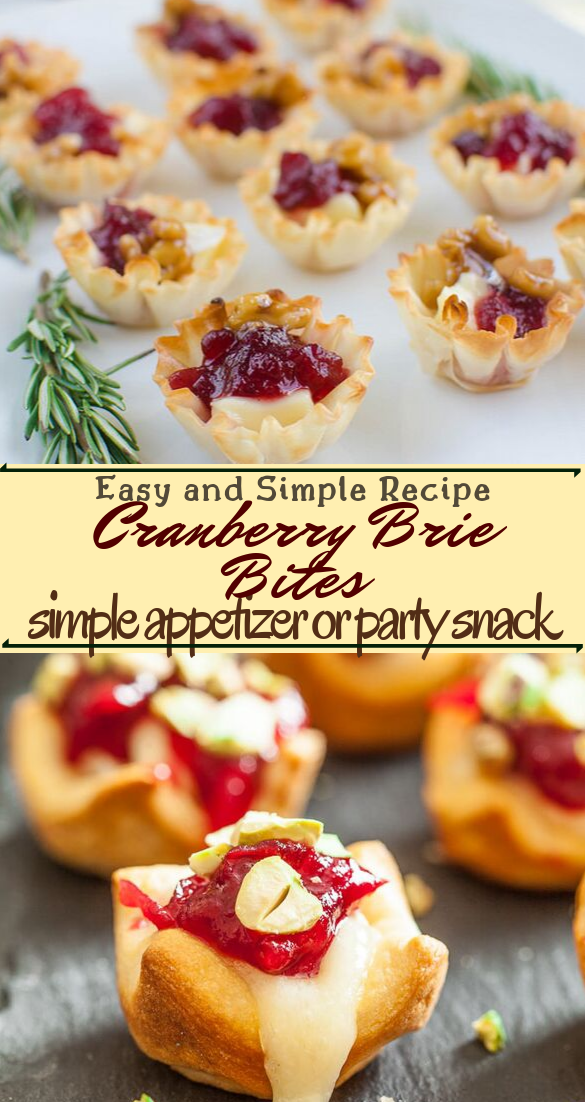 Cranberry Brie Bites #desserts #cakerecipe #chocolate #fingerfood #easy