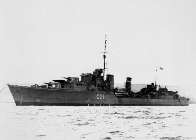 HMS Punjabi, sunk on 1 May 1942 worldwartwo.filminspector.com