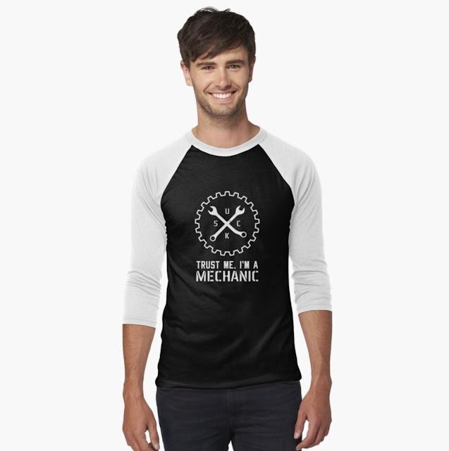 SUCK - Trust me, I'm a mechanic humour shirt