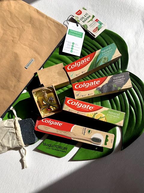 colgate natural  extracts diş macunları colgate bamboo fırça