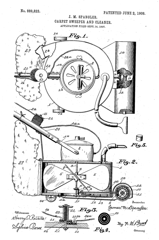 Hoover Model 0 patent