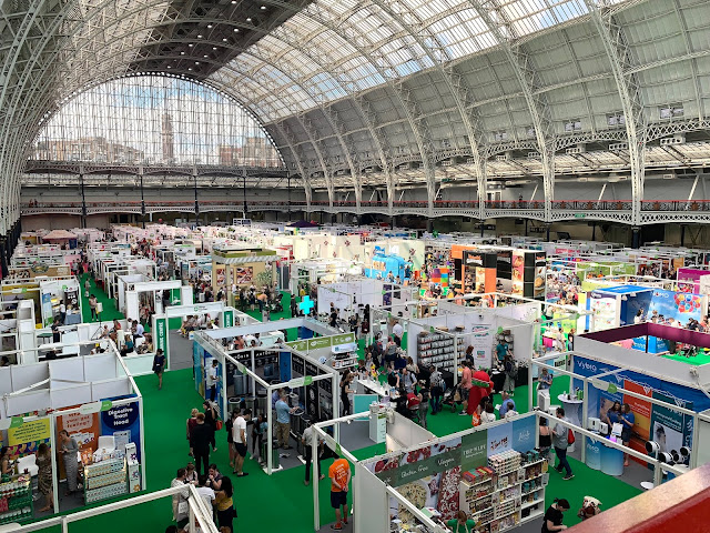A view from the balcony at London Olympia over the 2019 Allergy and free from show