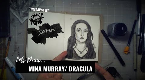 We Drew Mina Murray in Bram Stoker's Dracula - Inktober 2018