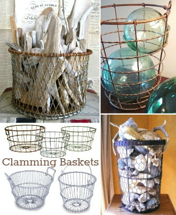 Decorating with Clamming Wire Baskets